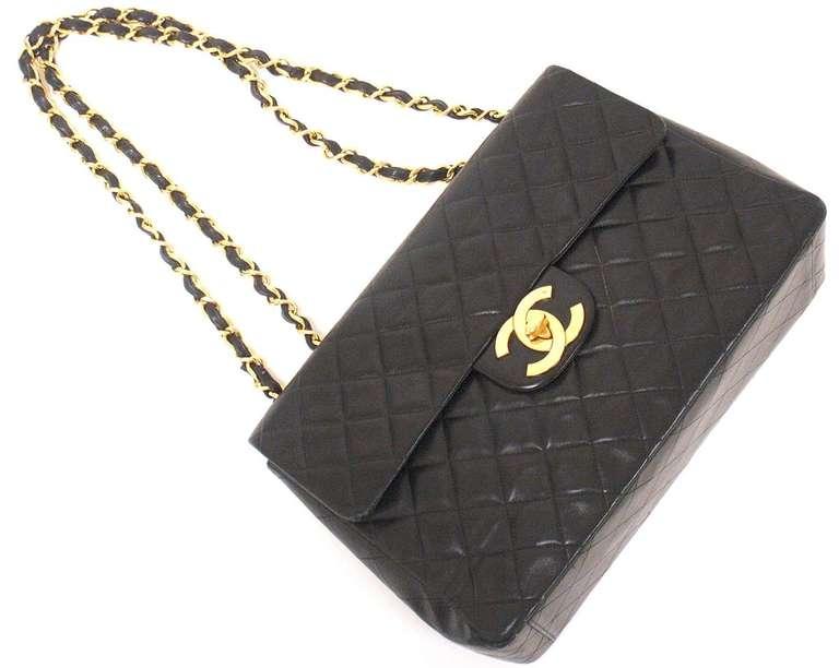 CHANEL XL Jumbo Maxi 2.55 34CM Flap Lambskin Handbag image 3