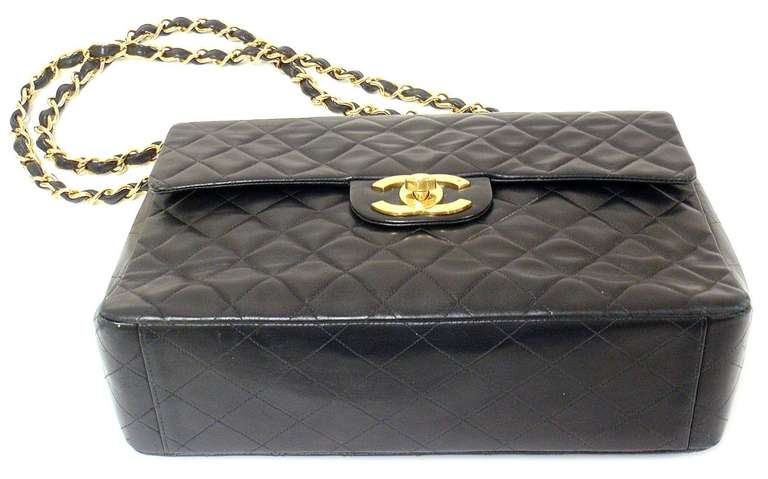 CHANEL XL Jumbo Maxi 2.55 34CM Flap Lambskin Handbag image 4