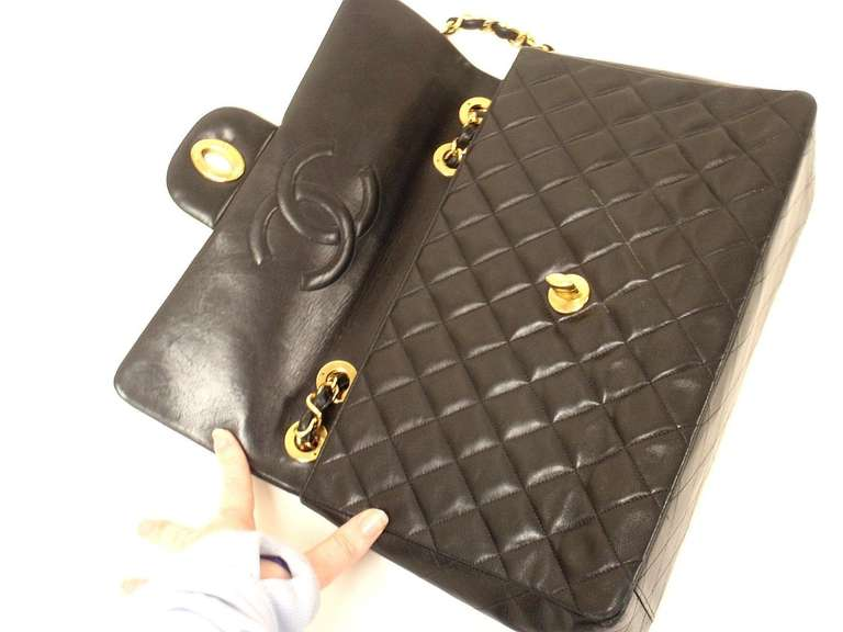 CHANEL XL Jumbo Maxi 2.55 34CM Flap Lambskin Handbag image 5