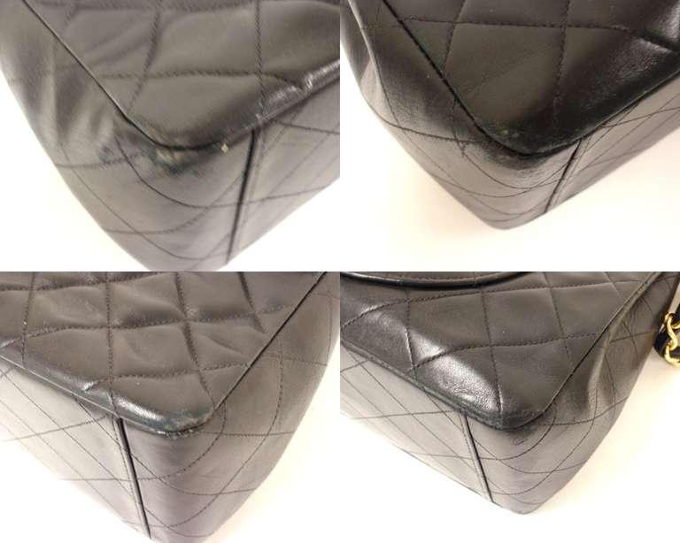 CHANEL XL Jumbo Maxi 2.55 34CM Flap Lambskin Handbag image 6