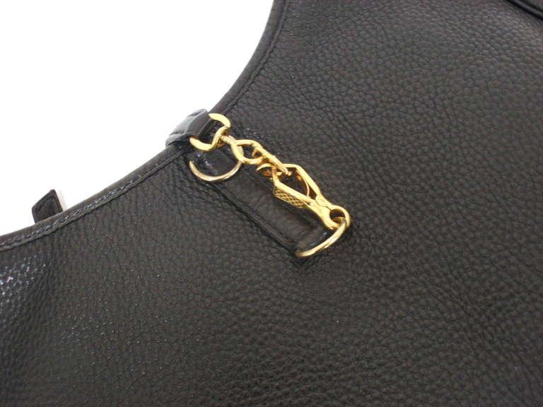 HERMES Trim 31cm Black Taurillon Clemence Leather Shoulder Bag For Sale 4