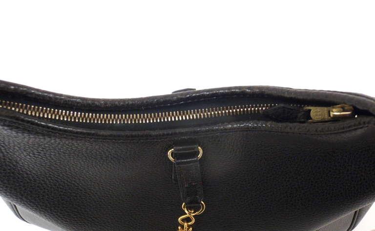 HERMES Trim 31cm Black Taurillon Clemence Leather Shoulder Bag For Sale 5