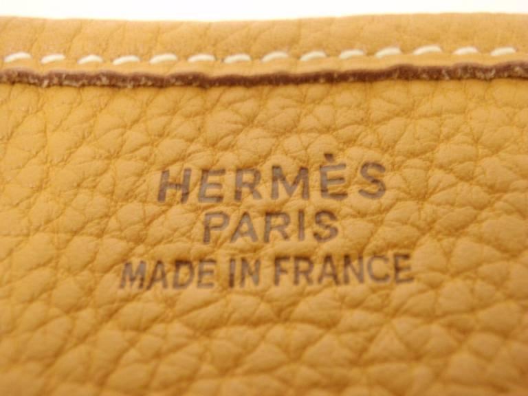 HERMES Evelyne GM Mustard Yellow Clemence GHW Shoulder Bag, 2002 1