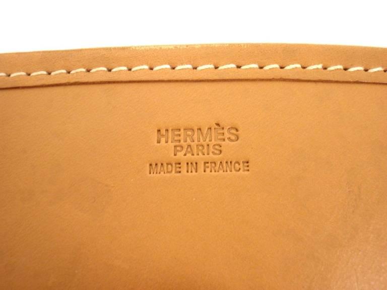 HERMES Evelyne PM Natural Light Barenia Leather SHW Shoulder Bag ...