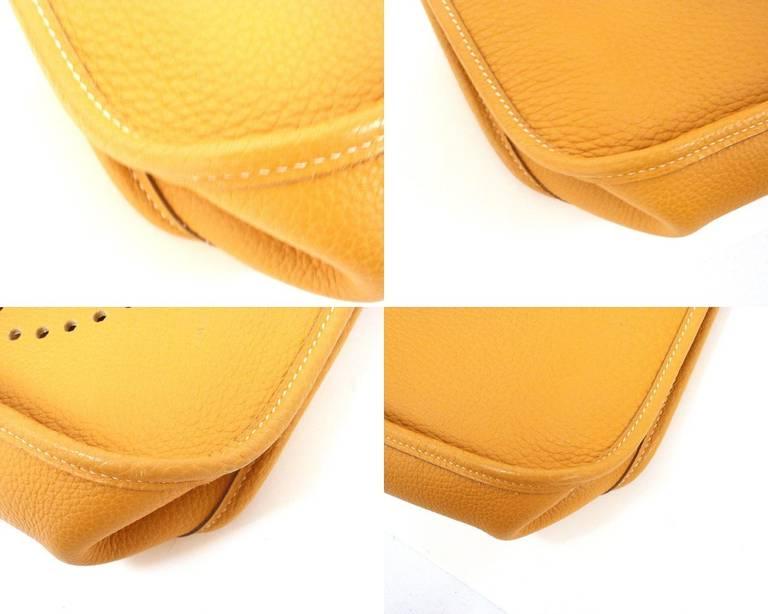 HERMES Evelyne GM Mustard Yellow Clemence GHW Shoulder Bag, 2002 4