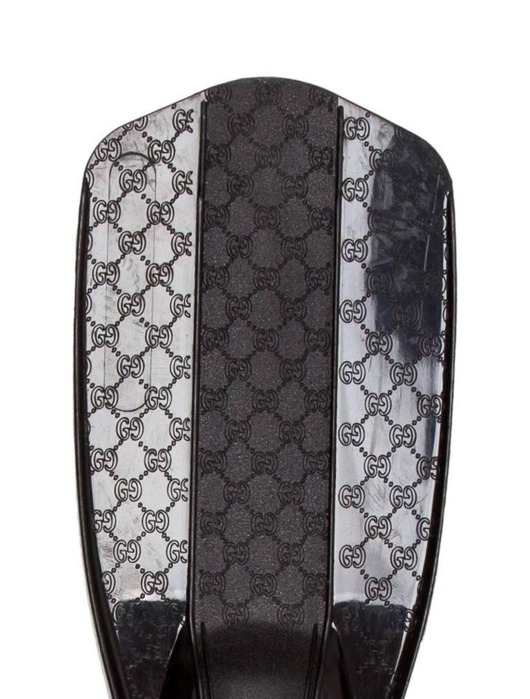 Tom Ford for Gucci 1999 Black Guccissima Rubber Gucci Snorkeling Fins 3