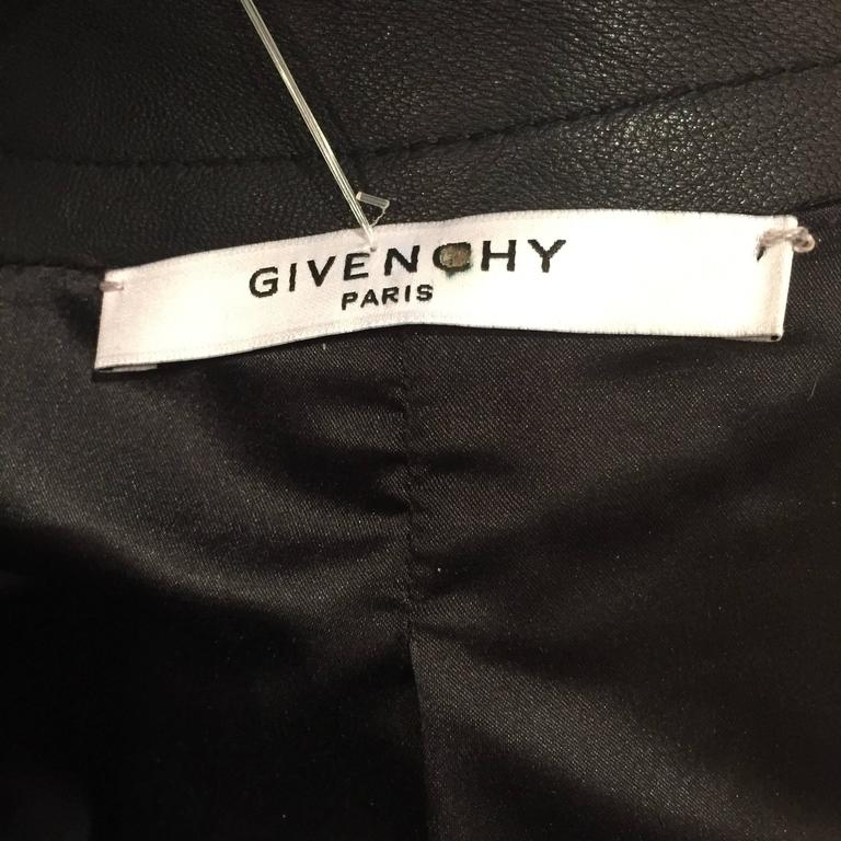 Givenchy Black Leather Crystal Studded Jacket 5