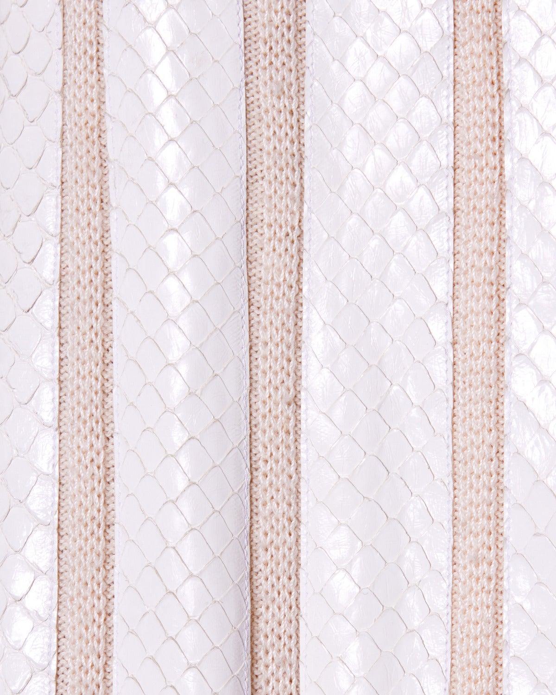 Women's Amen Wardy Vintage 1980s 80s White Reptile Skin Wool + Silk Jacket For Sale