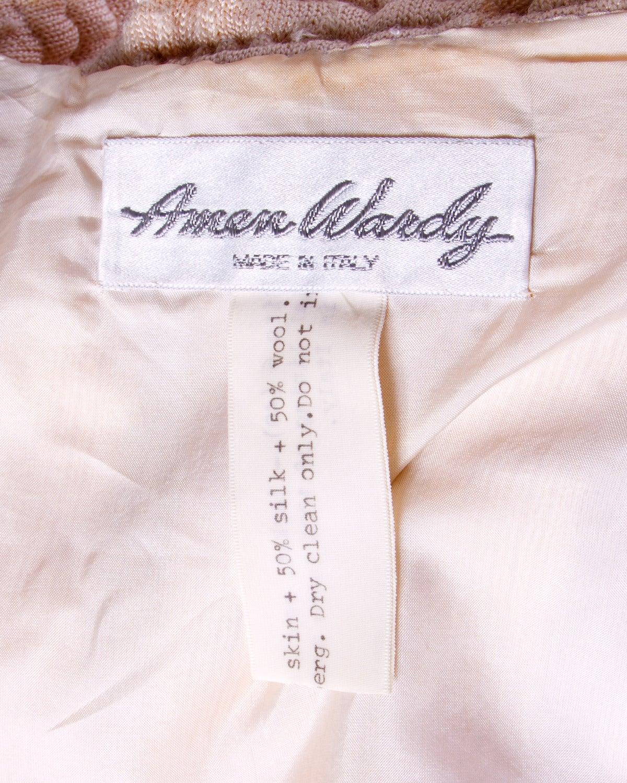 Amen Wardy Vintage 1980s 80s White Reptile Skin Wool + Silk Jacket For Sale 4