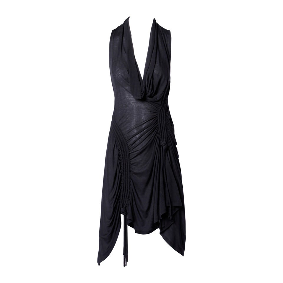 CoSTUME NATIONAL Jersey Knit Ruched Parachute Dress with Cowl Neck