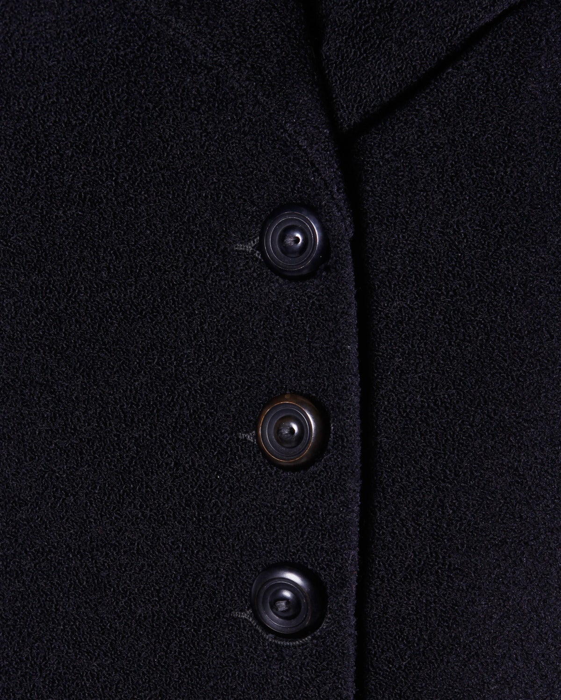 Elegant Vintage 1940s 40s Black Wool Princess Coat with Bold Shoulders 3