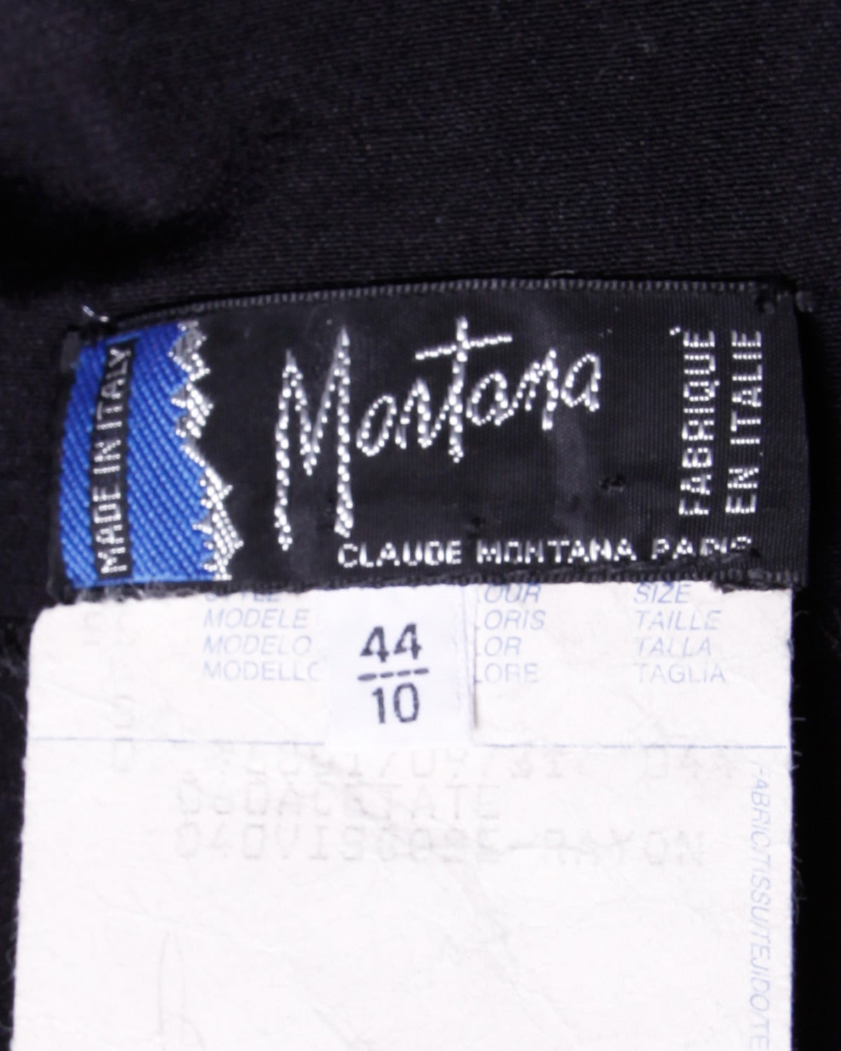 Claude Montana Vintage Black Avant Garde Lace-Up Skirt, 1990s  For Sale 2