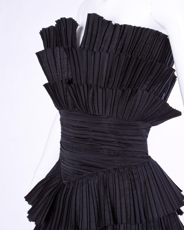 Louis feraud vintage strapless black sculptural origami pleated womens louis feraud vintage strapless black sculptural origami pleated dress for sale jeuxipadfo Gallery