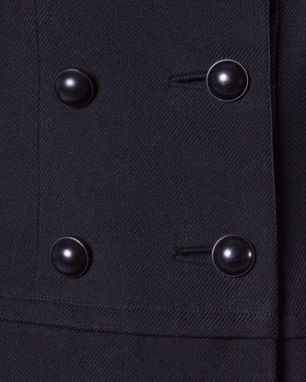 Women's Christian Dior Vintage 1960s 60s Pristine Black Wool Pea Coat For Sale