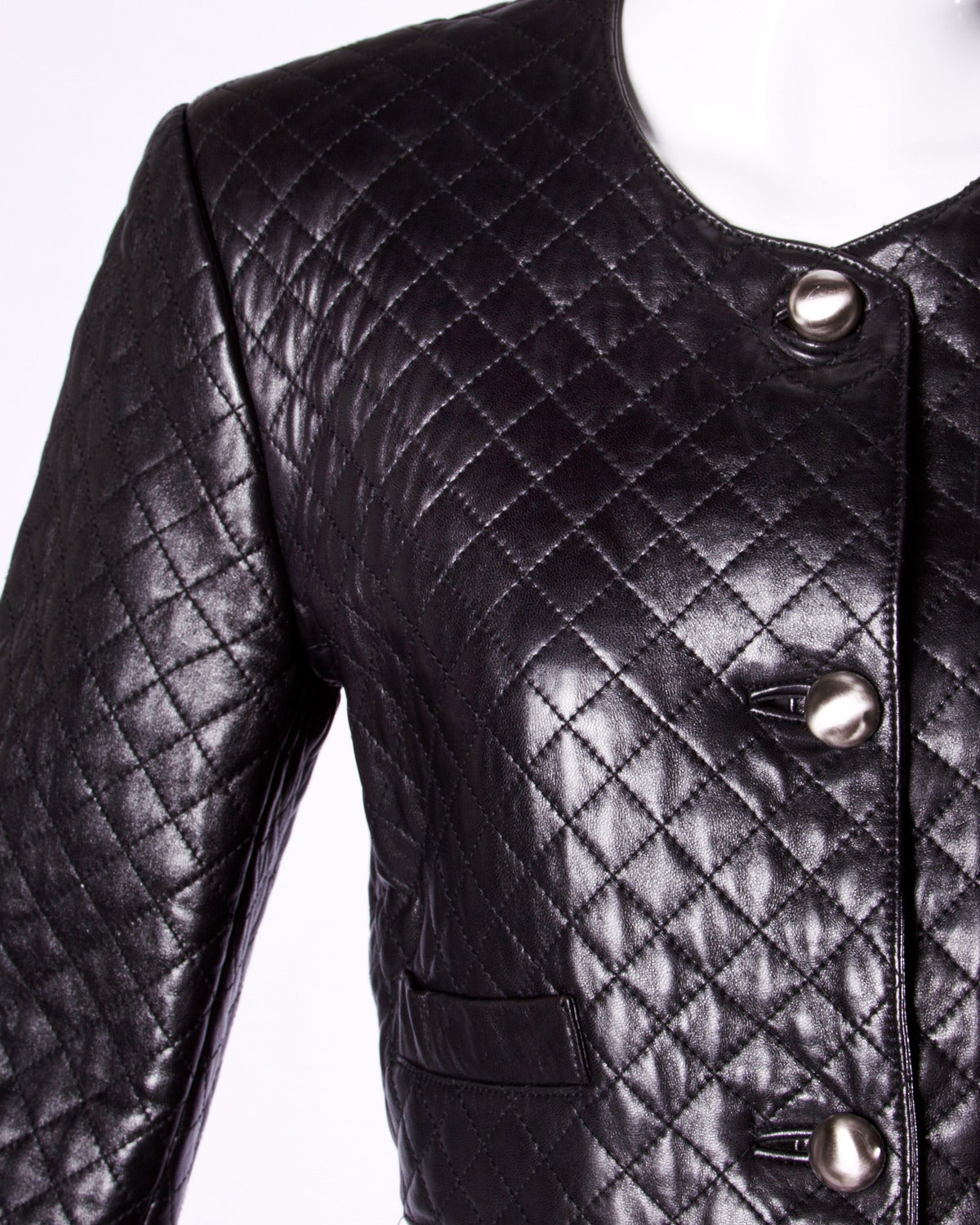 Unworn Michael Hoban for North Beach Leather Vintage Quilted Ensemble In New Condition For Sale In Sparks, NV