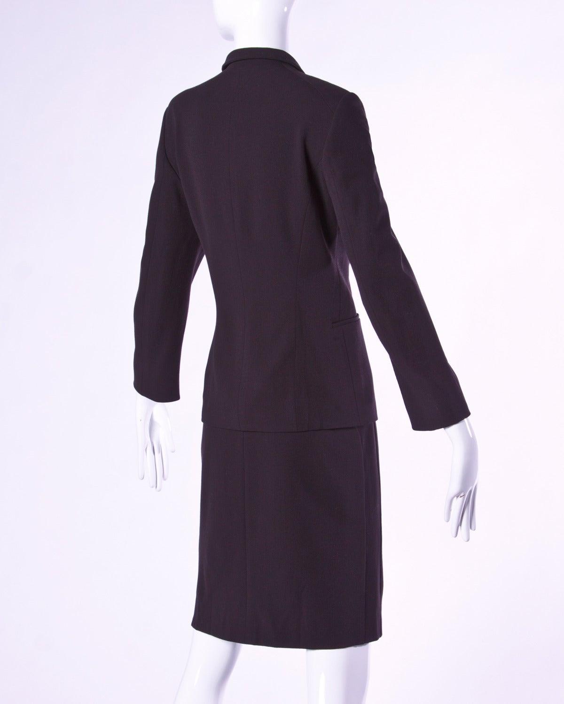 Jil Sander Vintage 1990s 90s Minimalist Brown Skirt ...