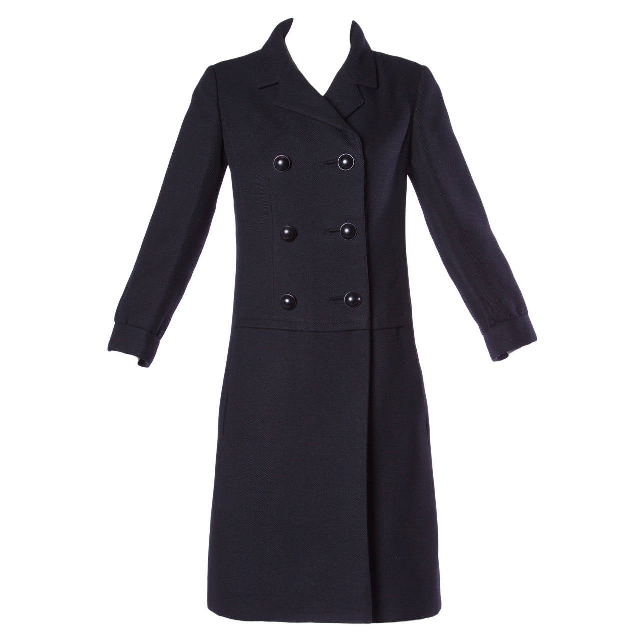 Black pea coat for women