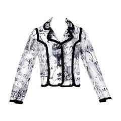 Unworn Moschino Vintage 1990s 90s Clear PVC Transparent Rain Coat Jacket