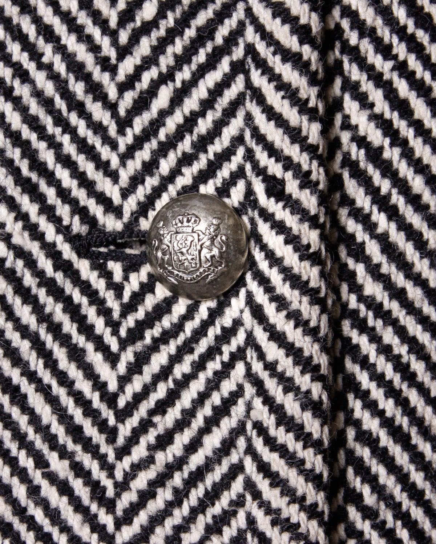 Jean Louis Scherrer Vintage 1970s 70s Military-Inspired Herringbone Coat 4