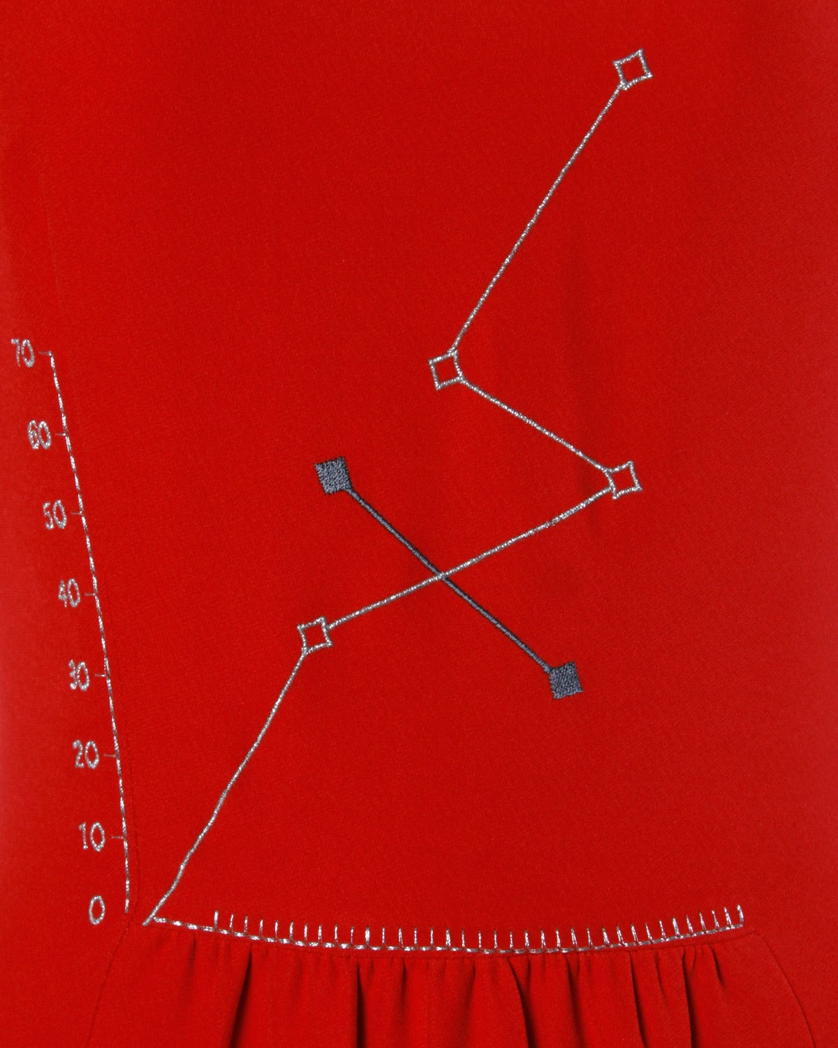 """Iconic Moschino Vintage 1990s 90s """"Love Charts + Graphs"""" Valentines Red Dress 3"""