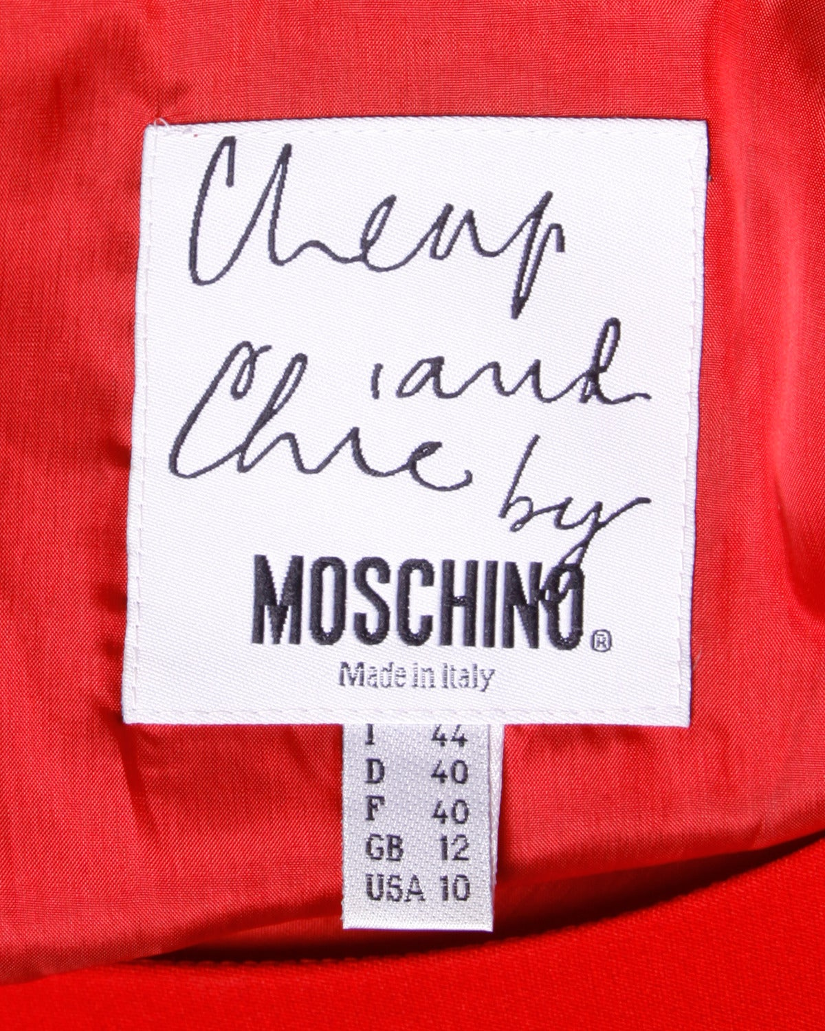 """Iconic Moschino Vintage 1990s 90s """"Love Charts + Graphs"""" Valentines Red Dress 6"""