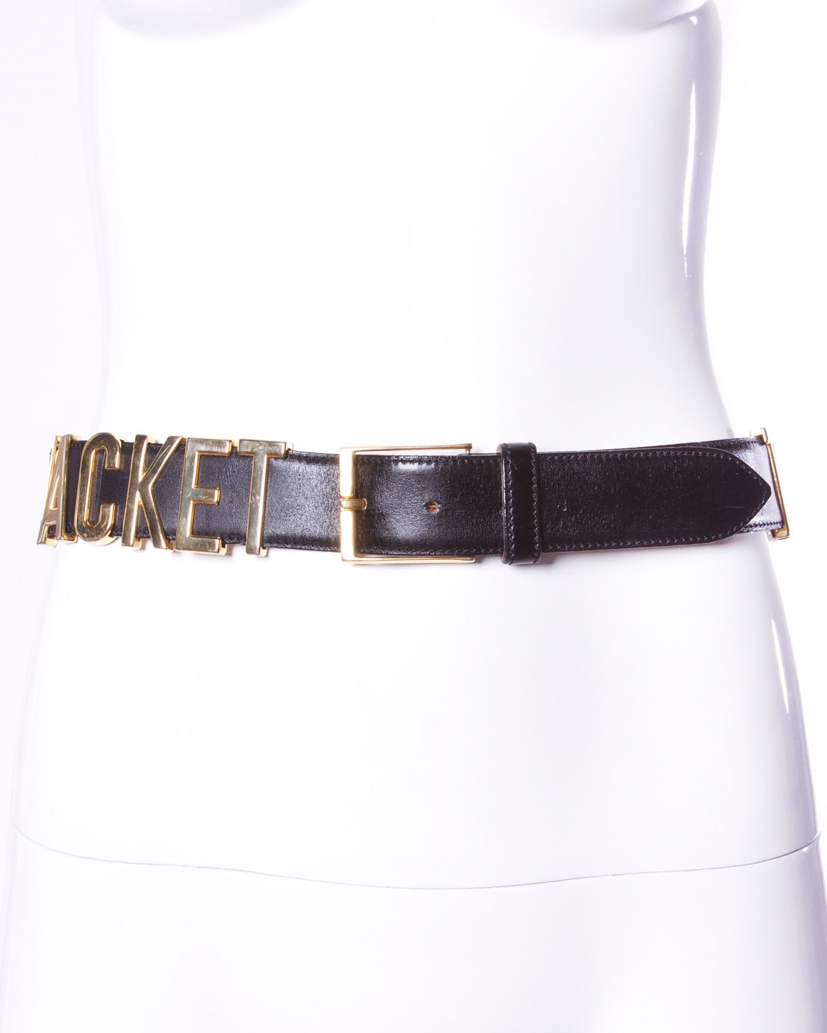 Iconic vintage Moschino by Redwall belt with the words,