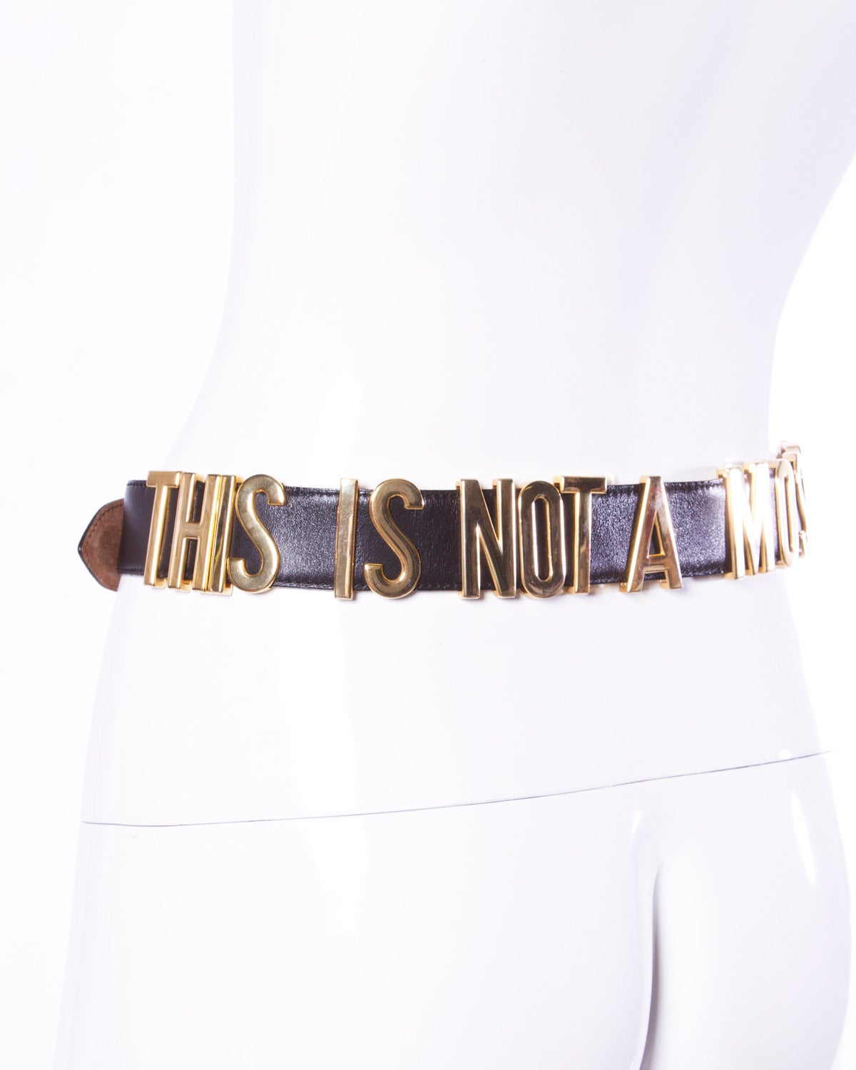 """""""This is Not a Moschino Jacket"""" Vintage Moschino by Redwall Leather Belt 5"""