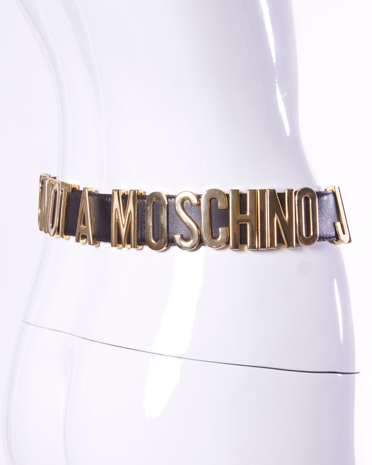 """""""This is Not a Moschino Jacket"""" Vintage Moschino by Redwall Leather Belt 6"""