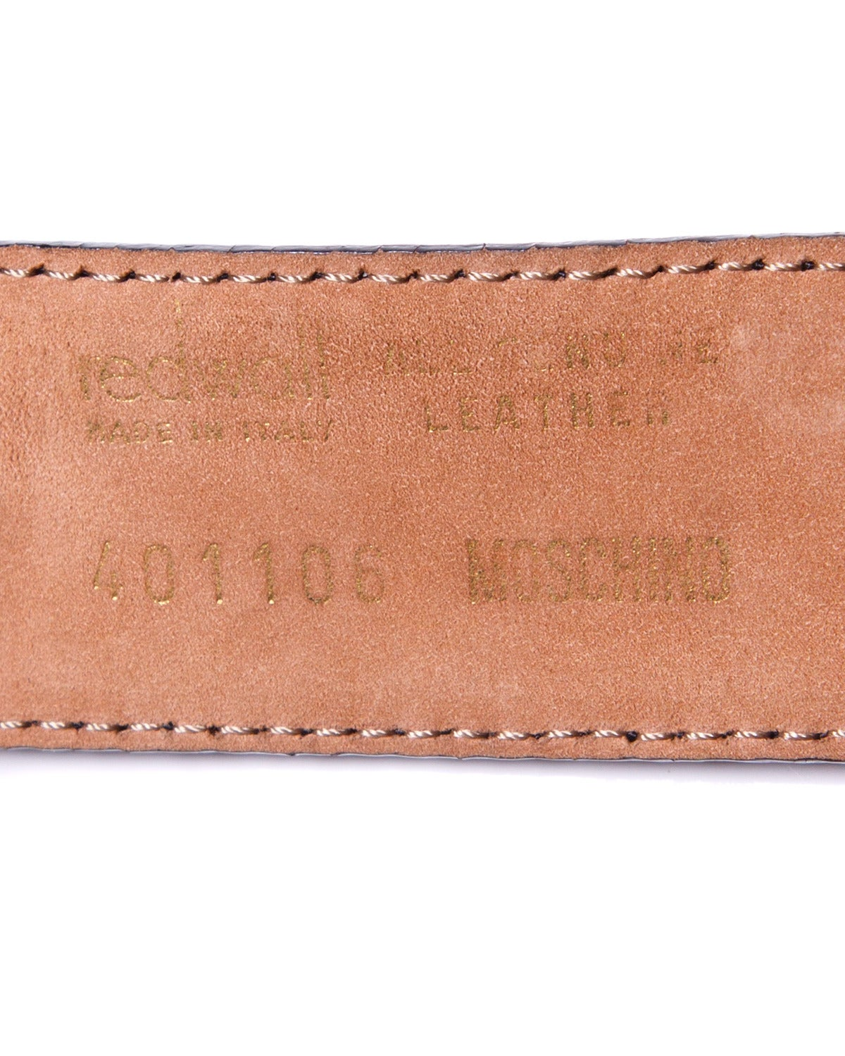 """""""This is Not a Moschino Jacket"""" Vintage Moschino by Redwall Leather Belt 8"""