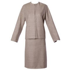 Yves Saint Laurent YSL Rive Gauche Wool Jacket + Skirt Suit Ensemble