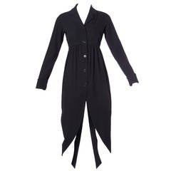 Romeo Gigli Vintage Avant Garde Tuxedo Tails Jacket or Split Dress