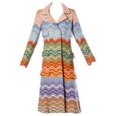 Rare Lisa Meril Vintage 1970s 70s Colorful Rainbow Tapestry Coat