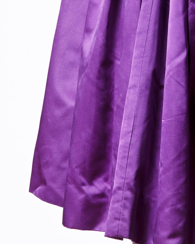 Minuet by Mollie Stone Vintage 1960s Purple Satin Cocktail Dress 3