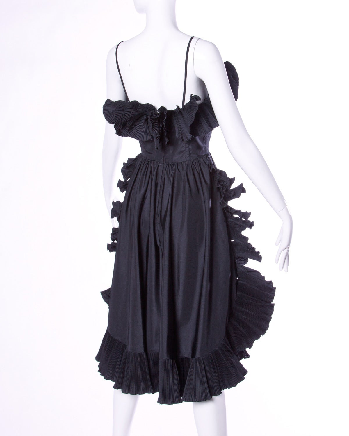 Unique avant garde origami pleated dress by Saks Fifth Avenue UK. Sculptural silhouette! 