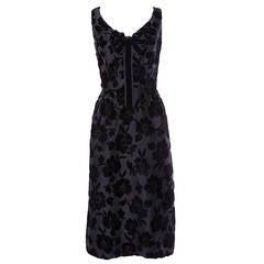 Early Oleg Cassini Couture Vintage 1950's 50s Black Formal Dress