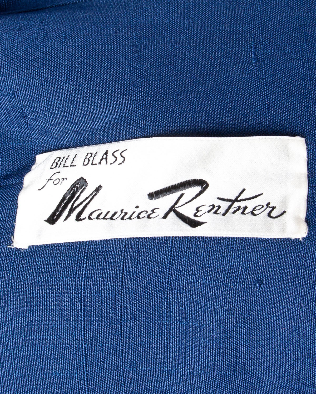 Bill Blass for Maurice Rentner 1960s Wool Plaid Jacket + Skirt Suit Ensemble For Sale 1