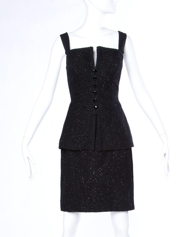 Michael Casey Couture Vintage Sculptural 3-Piece Skirt Suit Ensemble 3