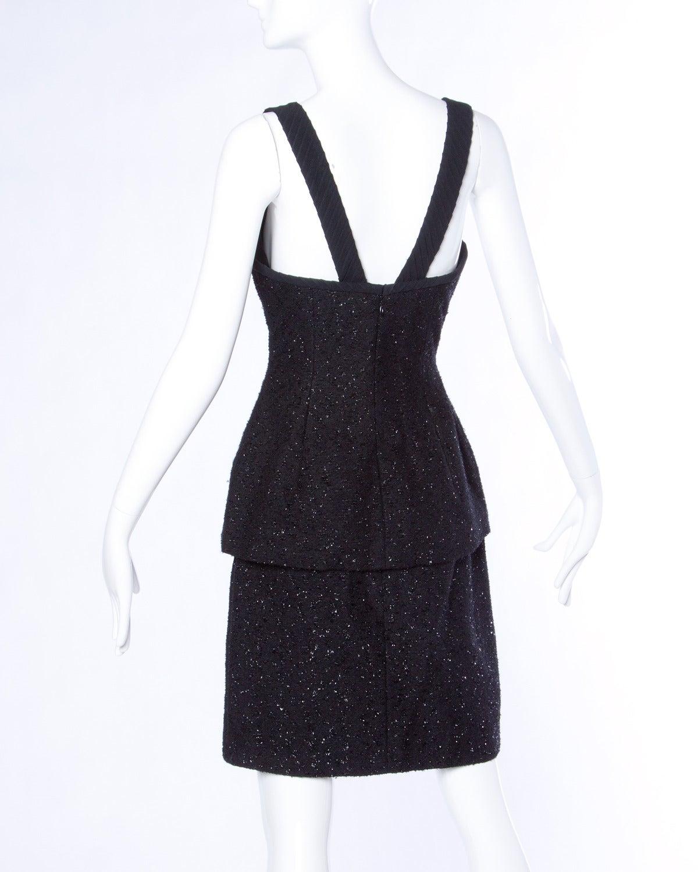 Michael Casey Couture Vintage Sculptural 3-Piece Skirt Suit Ensemble 4