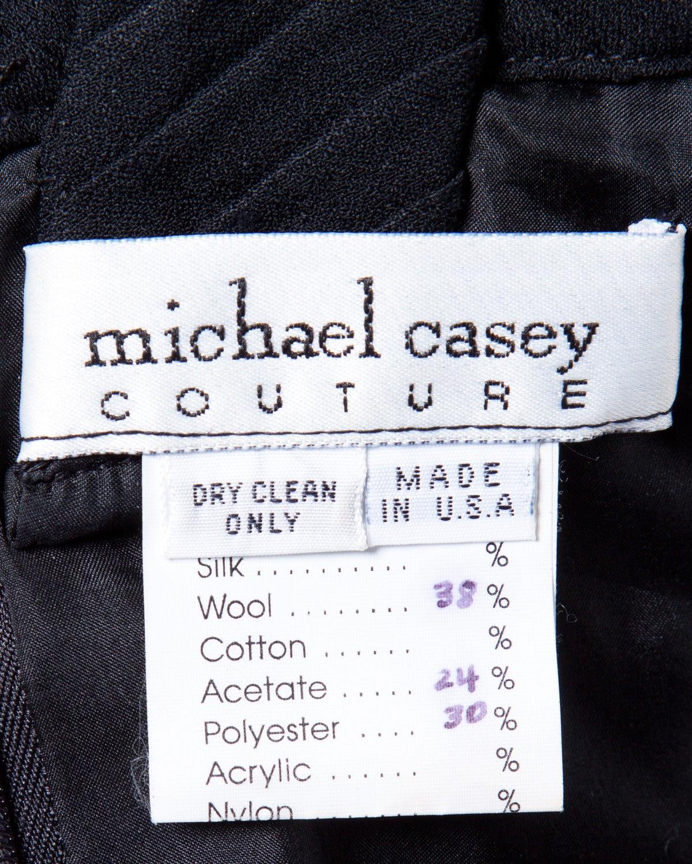 Michael Casey Couture Vintage Sculptural 3-Piece Skirt Suit Ensemble 9