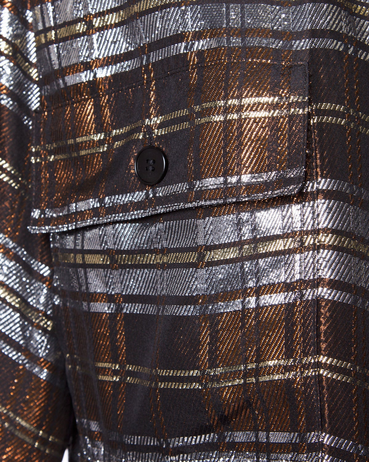 jean louis scherrer vintage 1980s metallic silk plaid shirt dress or tunic for sale at 1stdibs