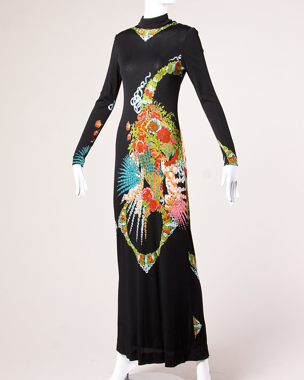 rizkallah for malcolm vintage 1970s 70s asian print
