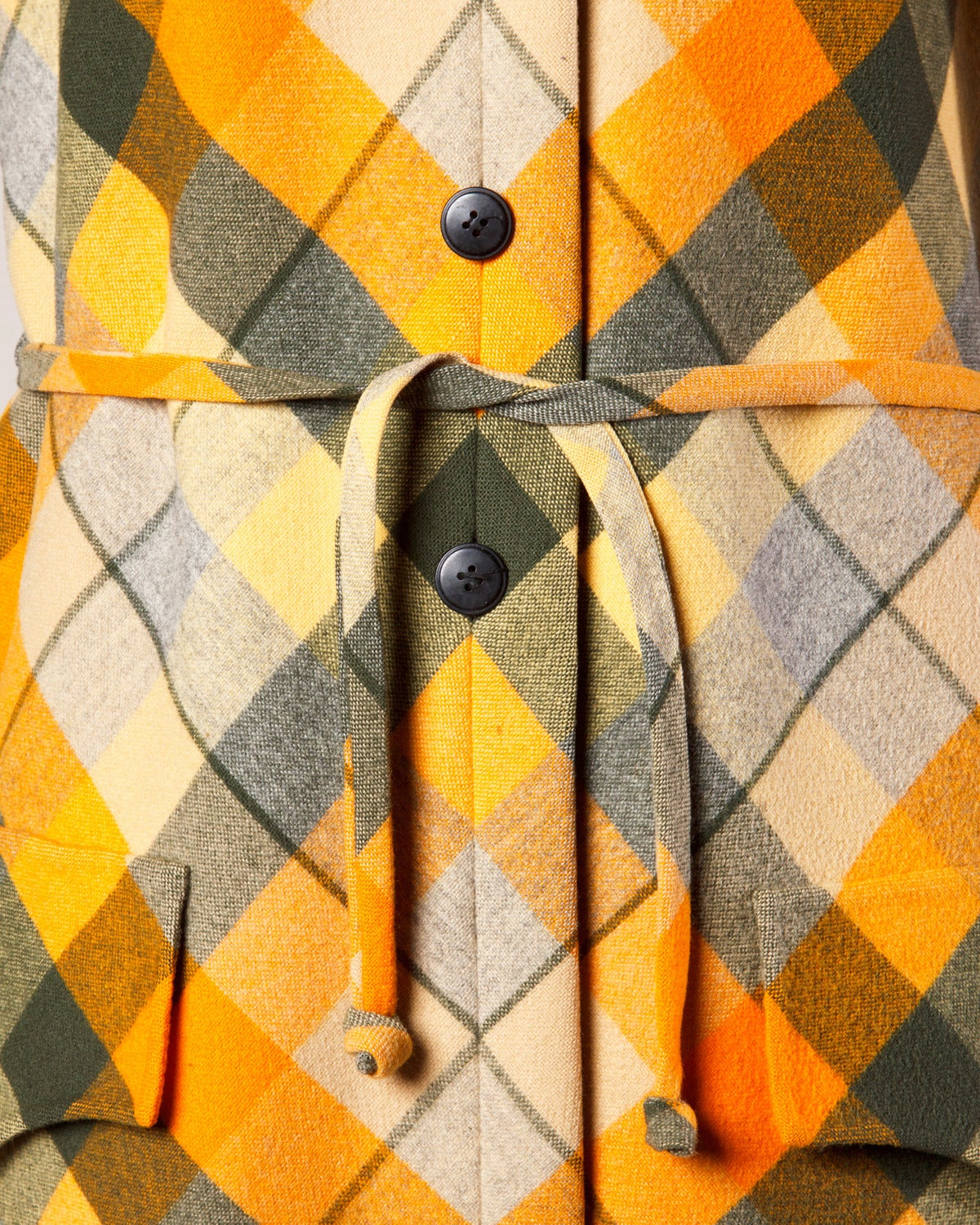 1970s Andre Laug Vintage Plaid Wool Jacket or Coat 4