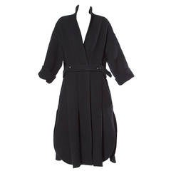 James Galanos for Neiman Marcus Unusual Black Wool Coat