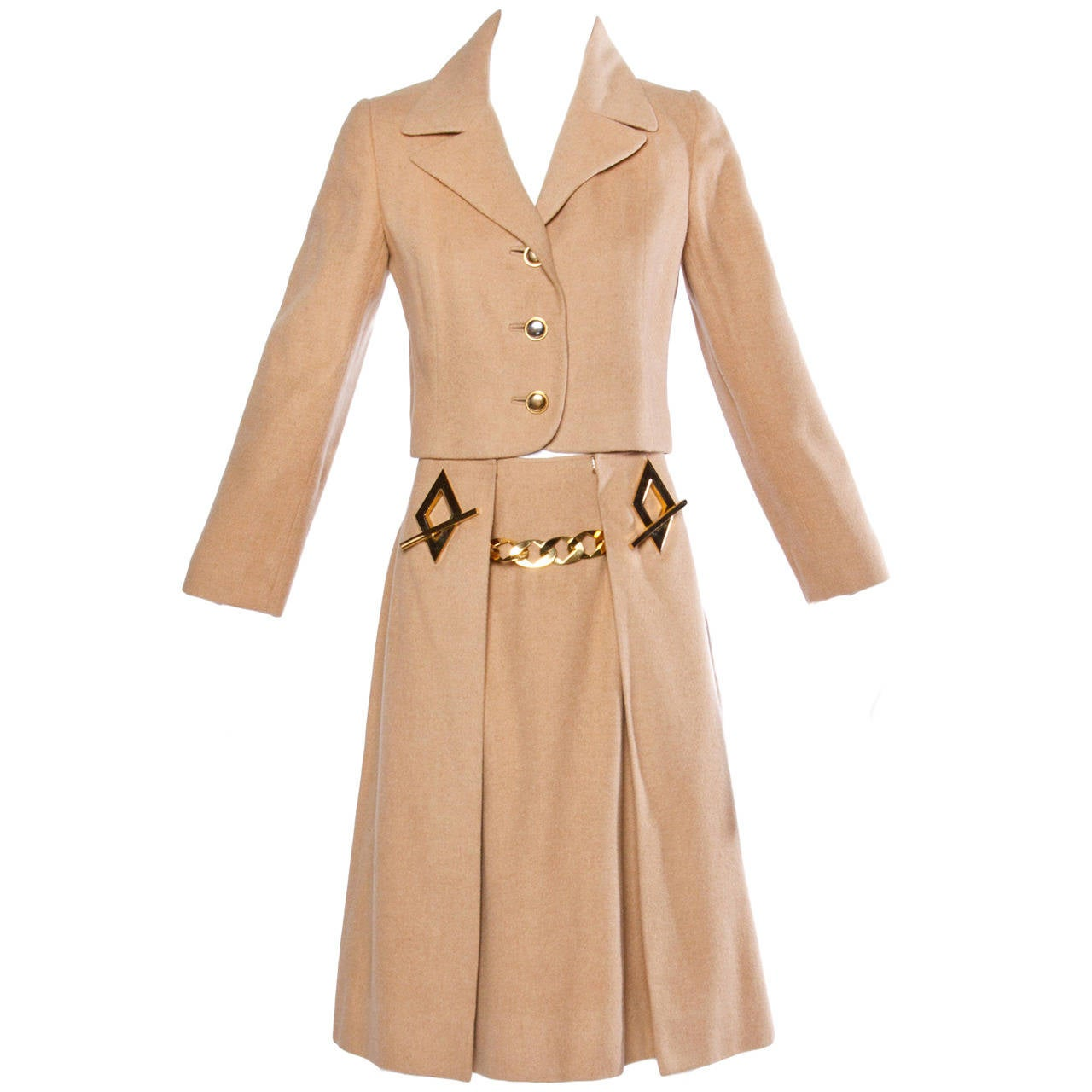 Frances Heffernan Vintage 1970s Camel Hair Jacket + Skirt ...