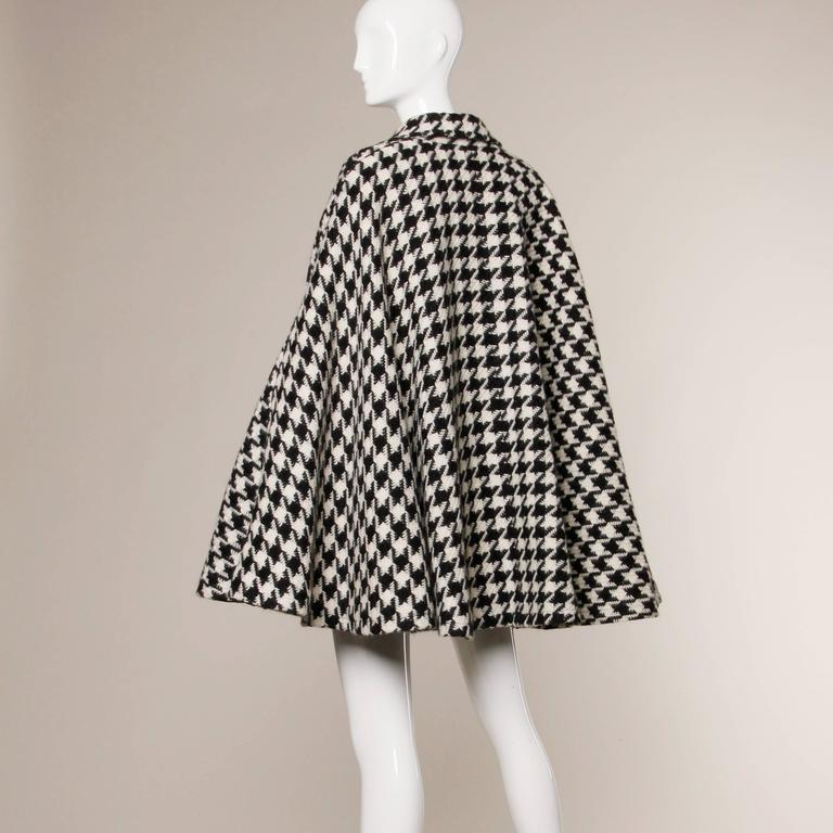 Moschino Vintage Black White Mohair Wool Houndstooth