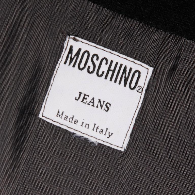 """Moschino Vintage """"What Goes Around Comes Around"""" Black Cut Out Letters Skirt In Excellent Condition For Sale In Sparks, NV"""