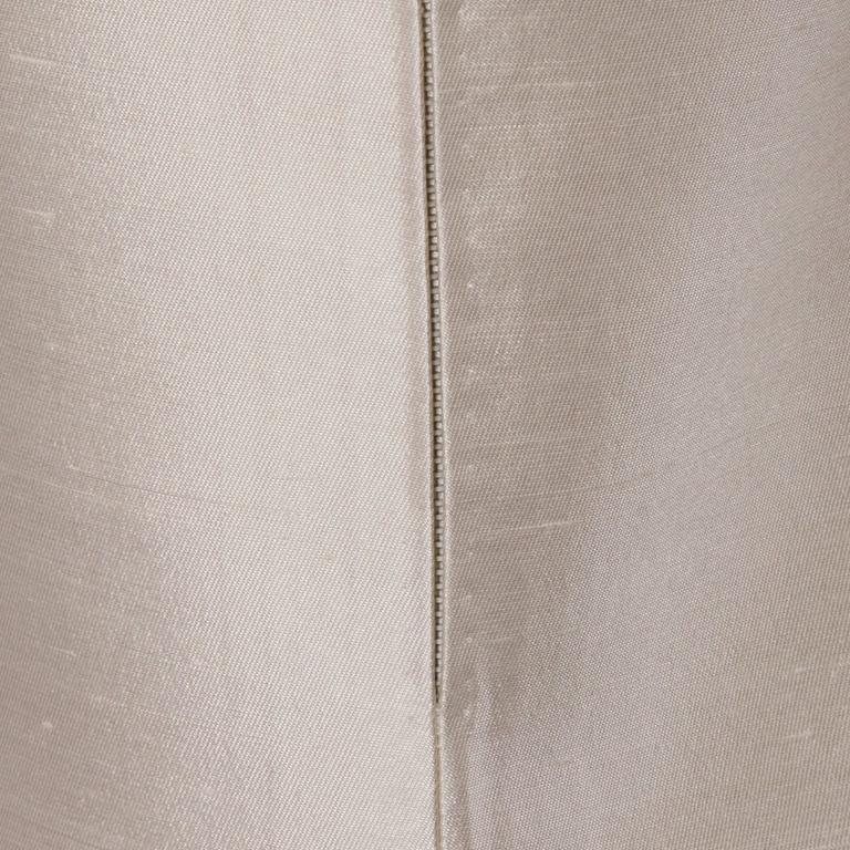 Silk Shantung White Beaded Sequin And Rhinestone Vintage
