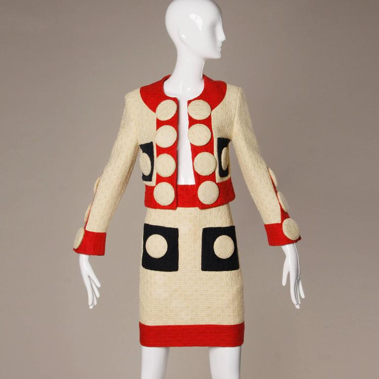 1990 Franco Moschino Couture Jacket Skirt Suit As Owned