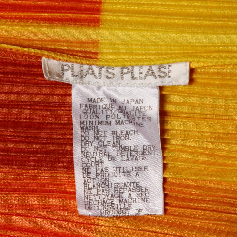 Issey Miyake Pleats Please Avant Garde Checkered Maxi Dress with Side Slits In Excellent Condition For Sale In Sparks, NV