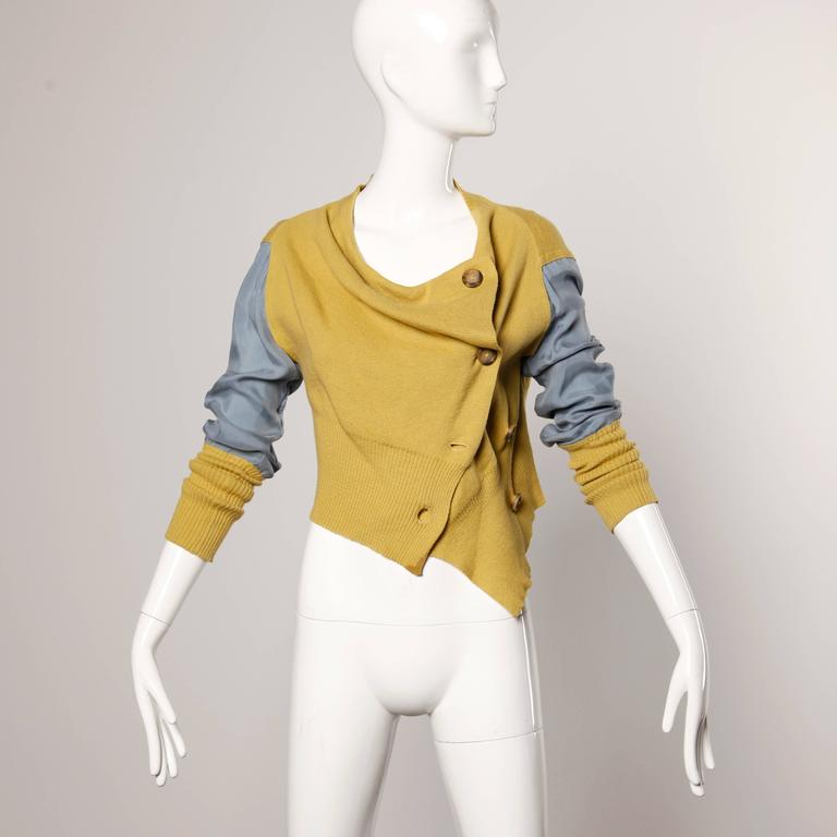 Vivienne Westwood Anglomania Two Toned Cardigan Sweater Jacket 2